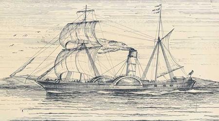 Steamship gravure